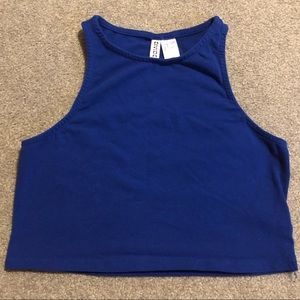 Royal Blue Crop Tank